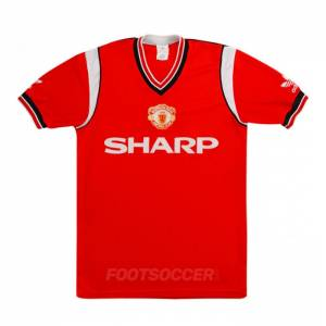 Maillot Retro Vintage Manchester united Home 1984-86 (1)