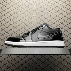 Air Jordan 1 Low SE Patent Leather 'ASW' Black White (1)