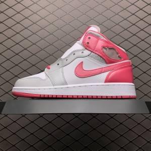 Air Jordan 1 MID GS Platinum Pink (1)