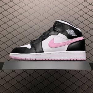 Air Jordan 1 MID White Black Light Arctic Pink (1)