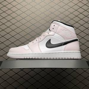 Air Jordan 1 MID White Pink Black (1)