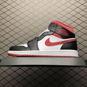 Air Jordan 1 MID Gym Red Black White (1)