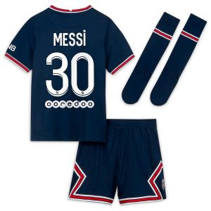 Maillot Enfant PSG Domicile Lionel Messi 2021 2022 (01)