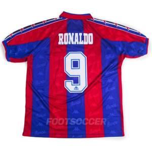 Maillot Retro Vintage FC Barcelone Domicile 1996 1997 RONALDO (1)