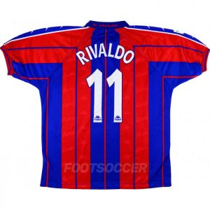 Maillot Retro Vintage FC Barcelone Domicile 1997 1998 RIVALDO (1)