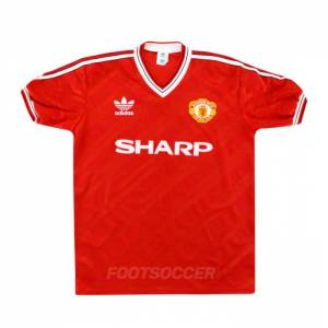 Maillot Retro Vintage Manchester United Home 1986-88 (1)
