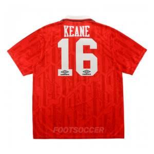 Maillot Retro Vintage Manchester United Home 1992-94 Keane (1)