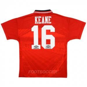 Maillot Retro Vintage Manchester United Home 1994-96 Keane (1)