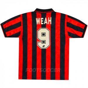 Maillot Retro Vintage Milan AC Home 1995 1996 WEAH (1)