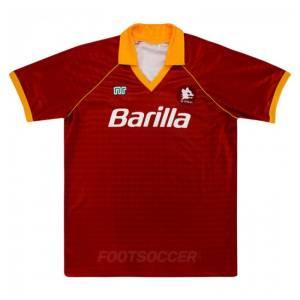 1990-91 Maillot Retro Vintage AS Roma Home (1)