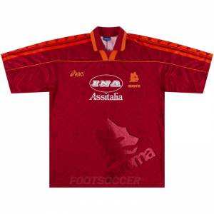1995-96 Maillot Retro Vintage AS Roma Home (1)