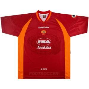 1997-98 Maillot Retro Vintage AS Roma Home (1)