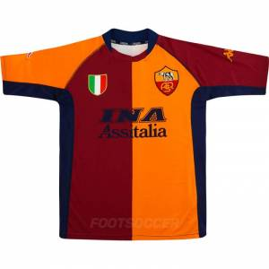2001-02 Maillot Retro Vintage AS Roma Home (1)2001-02 Maillot Retro Vintage AS Roma Home (1)