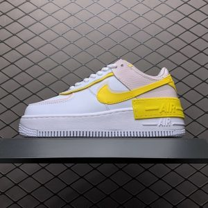 Air Force 1 Shadow White Barely Rose Speed Yellow (W) (1)