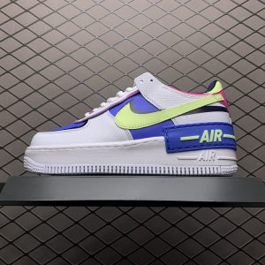 Air Force 1 Shadow White Sapphire Barely Volt (W) (1)