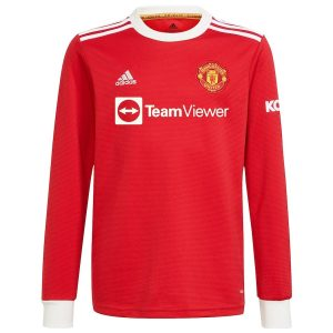 MAILLOT MANCHESTER UNITED HOME 21-22 MANCHES LONGUES (1)