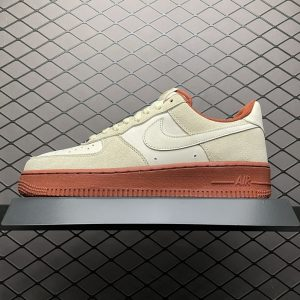 Air Force 1 07 Low Beige White Brown Gold (1)