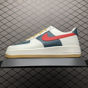 Air Force 1 Low White Olive Green Fire Red (1)