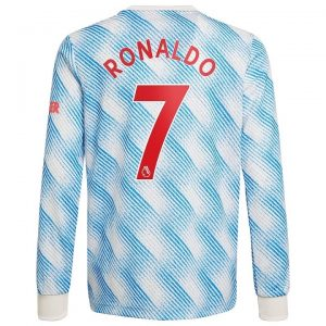 MAILLOT MANCHESTER UNITED AWAY 21-22 RONALDO MANCHES LONGUES (1)