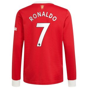MAILLOT MANCHESTER UNITED HOME 21-22 RONALDO MANCHES LONGUES (1)