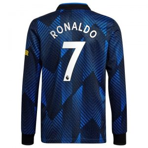MAILLOT MANCHESTER UNITED THIRD 21-22 RONALDO MANCHES LONGUES (1)